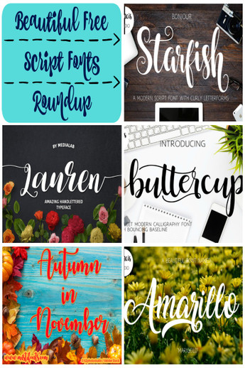 Beautiful Free Script Font Roundups From Expressions Vinyl