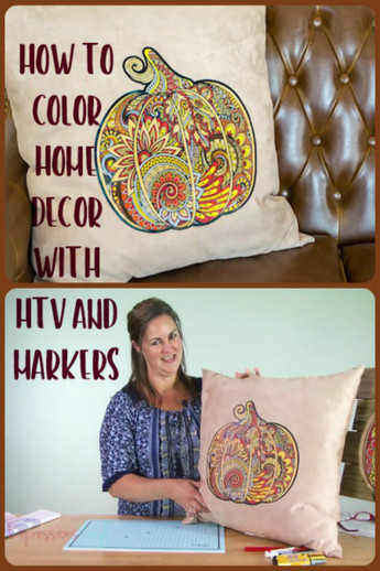 Coloring Home Decor with Vinyl and Markers