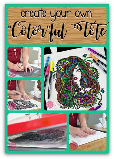 Coloring Page Tote Bag