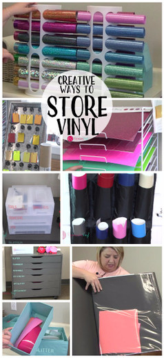 Creative Ways To Store Your Craft Vinyl