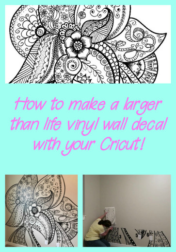How to create a large vinyl wall decal with your Cricut!