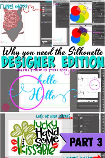 Silhouette Upgrades Designer Edition Part 3