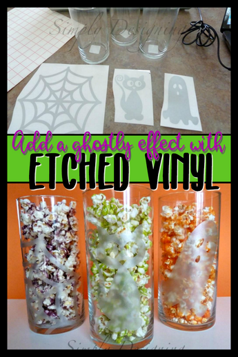 Etched Glass Halloween Jars