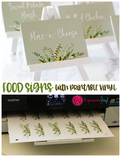 picture about Printable 651 Vinyl referred to as Meals indicators with printable vinyl - Expressions Vinyl