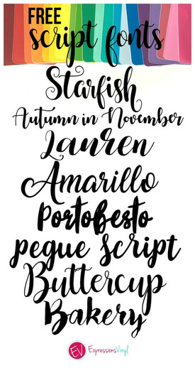 Beautiful FREE Script Font Roundup