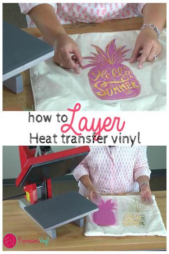 Layering Heat Transfer Vinyl On A Pillow