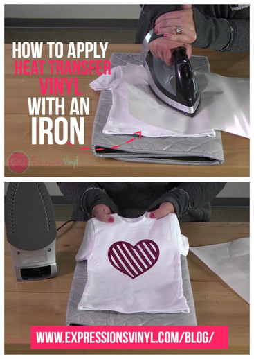 image about How to Use Printable Heat Transfer Vinyl Cricut called How Toward Implement Warmth Shift Vinyl with an Iron - Expressions