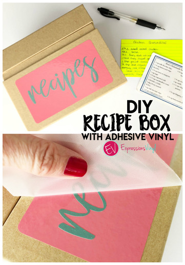 Recipe Box with vinyl