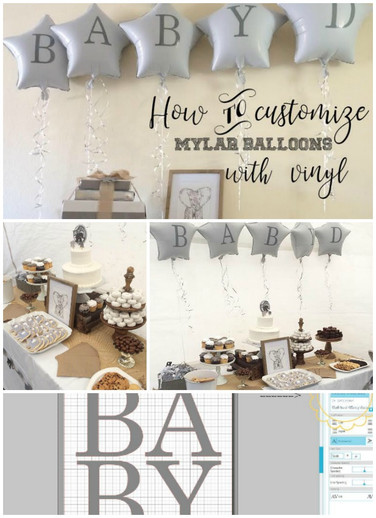 How to customize balloons with Expressions Vinyl