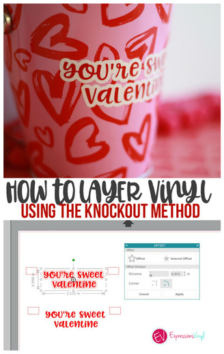 Easy Way To Knockout Text To Avoid Bulk in Silhouette Studio (Great For Layering Vinyl!)
