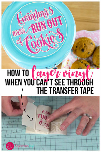 How to layer vinyl when you can't see through the transfer tape
