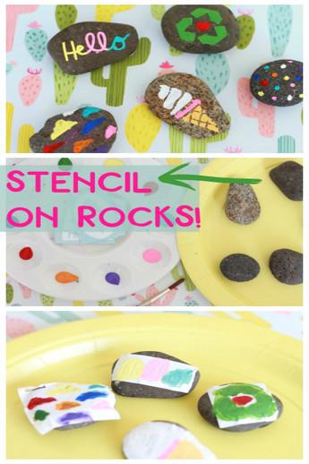 Vinyl Stencils on Rocks