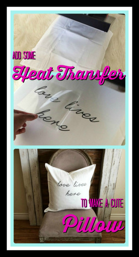 Heat Transfer Vinyl Pillow
