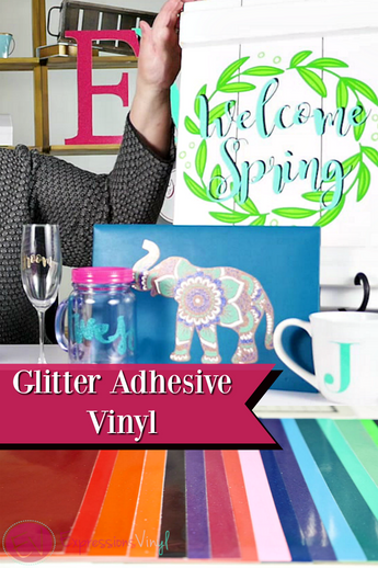 What is Adhesive Glitter Vinyl???