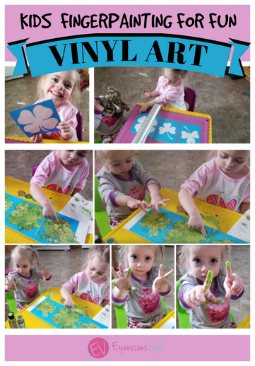 Kids Finger Painting with Vinyl