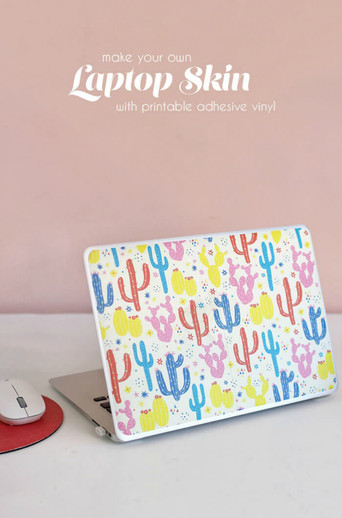image about Printable Adhesive Vinyl titled Pc Pores and skin with Printable Adhesive Vinyl - Expressions Vinyl