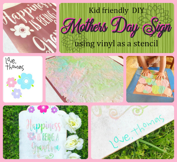 Kids DIY Mothers Day Sign