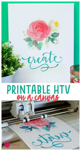 photo about How to Use Printable Htv called Printable HTV upon canvas - Expressions Vinyl