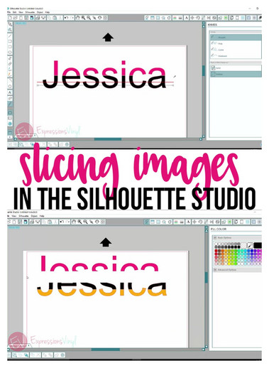 Slicing Tool in Silhouette Studio
