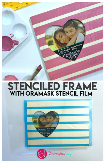 Stenciled frame with oramask