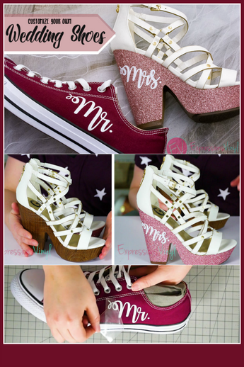 Glitter HTV on Shoes