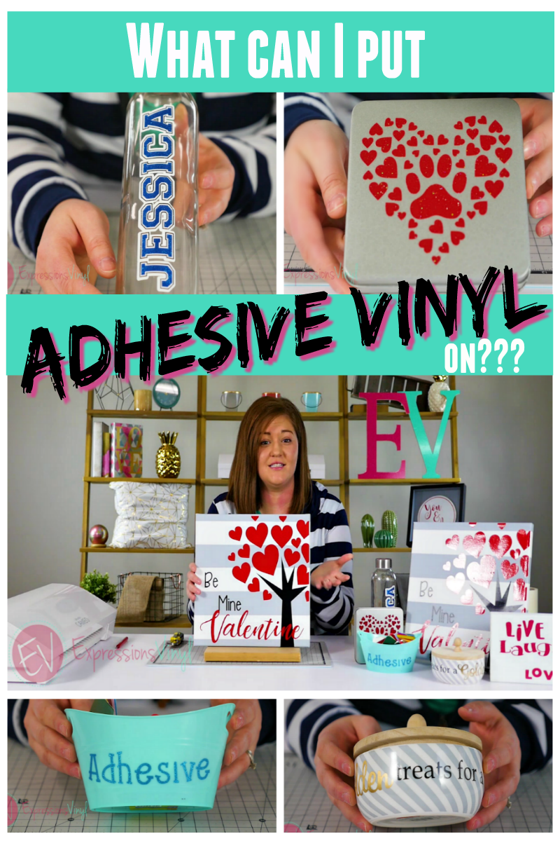 What can you apply adhesive vinyl onto