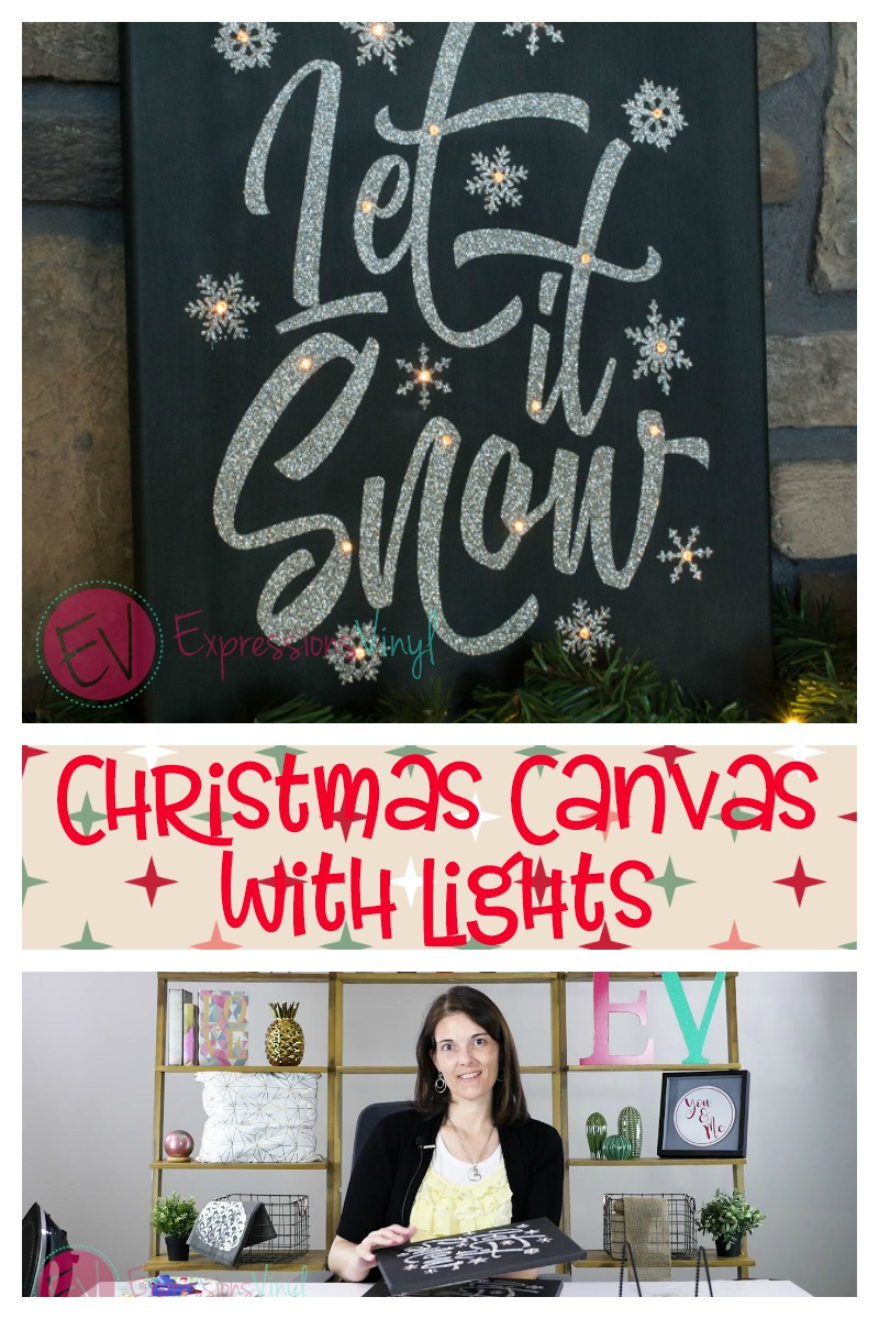 Christmas Canvas With Lights Expressions Vinyl