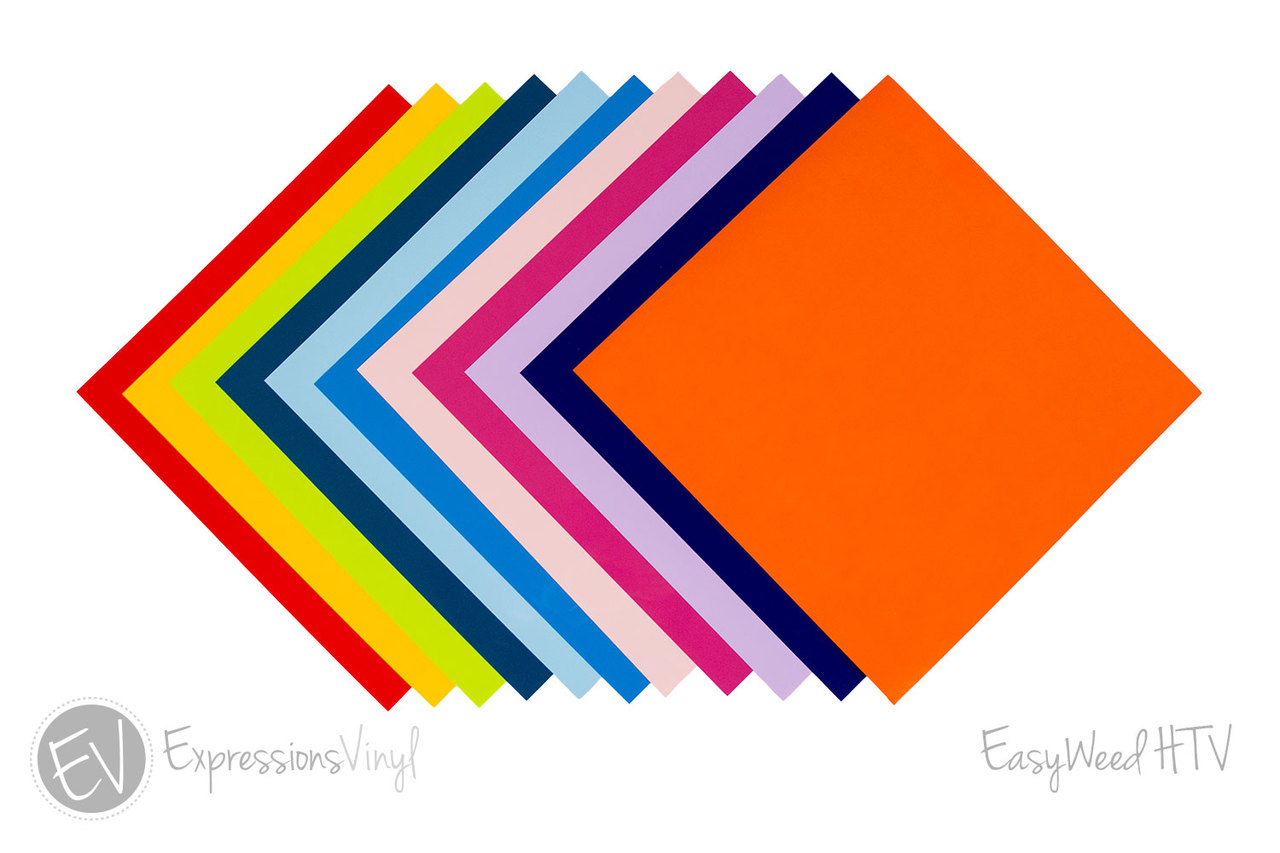 "T-Shirt IRON ON Heat Transfer Vinyl - 40 Color Choices - 10/"" x 12/"" Sheet :"