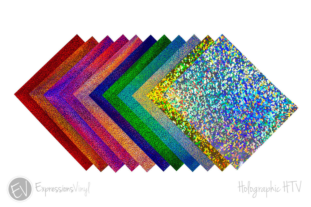 12 x 20 Sheets HTV Siser Holographic Heat Transfer Vinyl