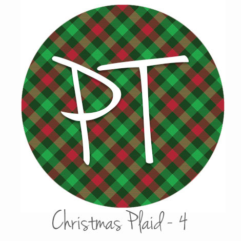 HTV Transfer ~ Striped Santa Hat With Plaid Trim ~ Siser Vinyl ~ Christmas
