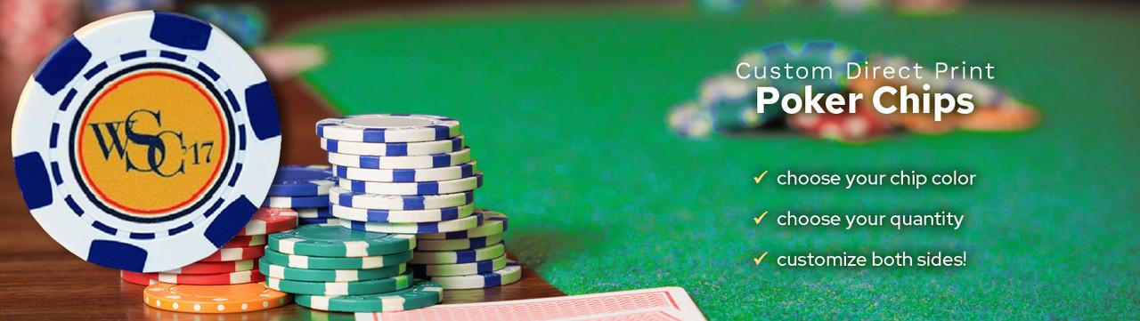 Custom Direct Print Poker Chips