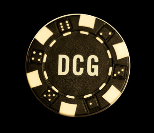 Custom Hot Stamped Striped Dice Poker Chips