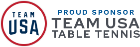 Proud Sponsor Team USA Table Tennis
