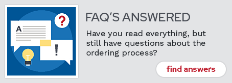 Read our Ordering FAQs