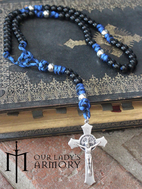 Vade Retro Paracord Rosary - BLUE
