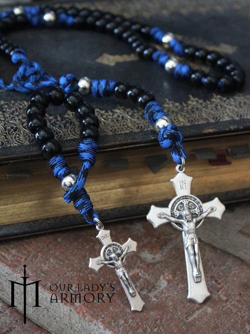 Vade Retro One-Decade Paracord Rosary - BLUE