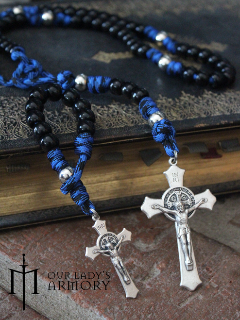 Vade Retro One-Decade Paracord Rosary - BLUE