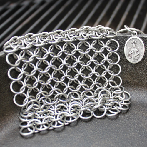Saint Lawrence Chainmail Scrubber