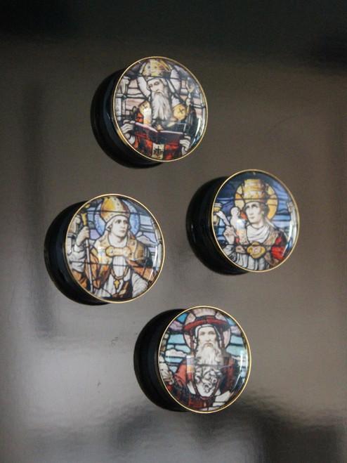 Catholic Saints Fridge Magnets Collection, Series 1: Western Church Fathers