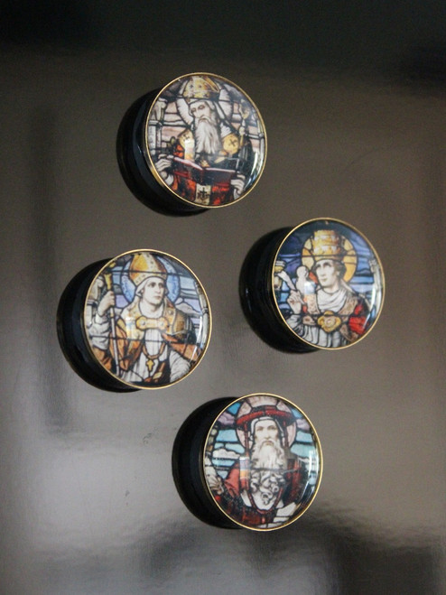 Catholic Saints Fridge Magnets Collection, Series 1: Western Church Fathers