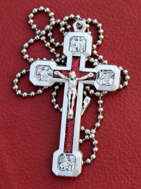 Via Crucis Necklace - Red