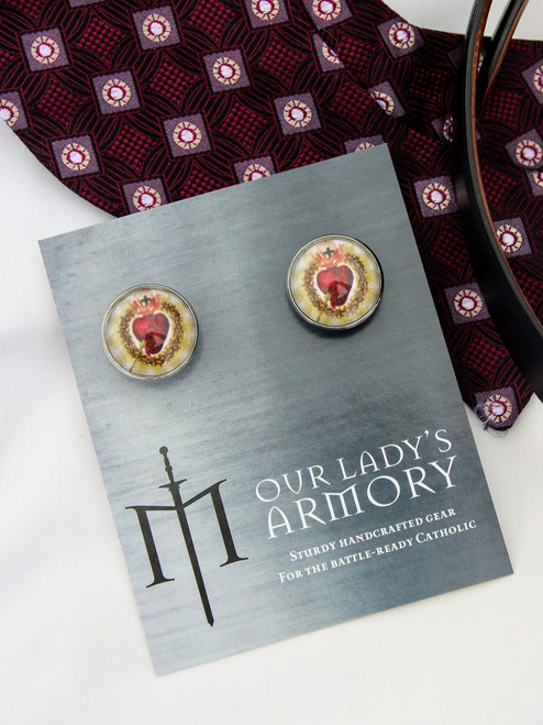Sacred Heart Cufflinks