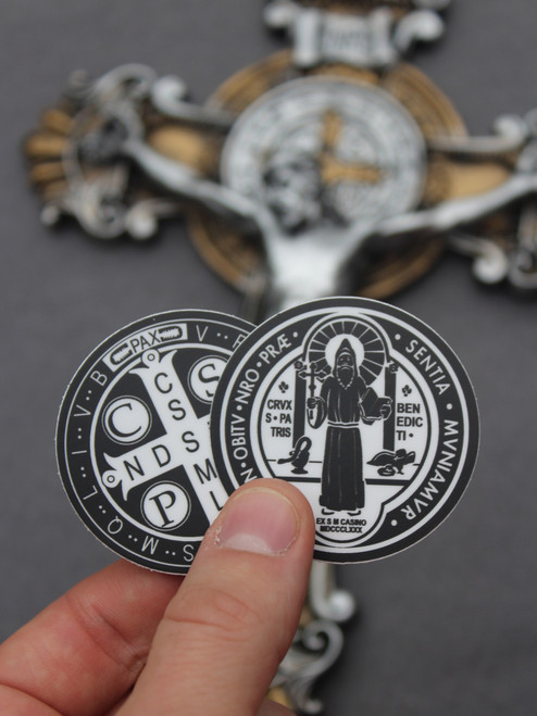 Saint Benedict Decal (2-inch)