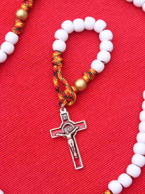 Fire of the Holy Spirit One-Decade Paracord Rosary