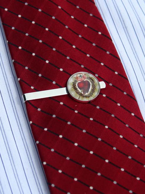 Sacred Heart Tie Bar