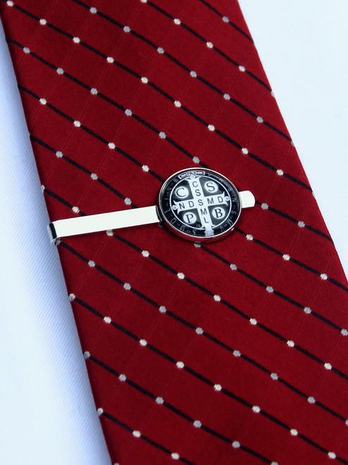Cross of Saint Benedict Tie Bar