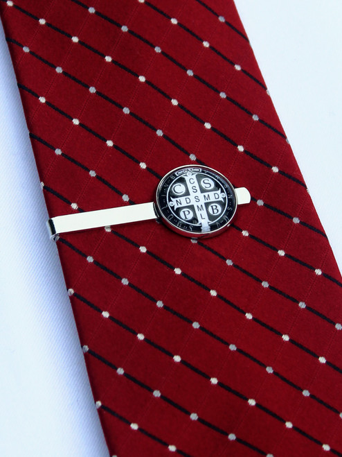 Cross of Saint Benedict Tie Bar