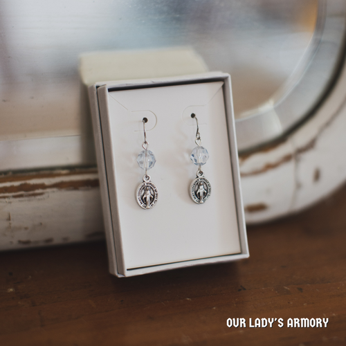 Our Lady of the Snows Earrings