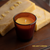 Beeswax Votive Candle (Amber Glass)