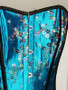 Exotic Torquoise chinese flowers Corset